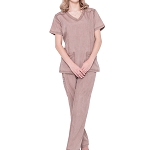 Doctor Nursing Women Scrubs Set – Jeanish Uniform Washed Slim Scrub Set JS1602