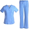 V Neck Stretch Nursing Scrubs Set - Soft Women Scrubs Medical Uniforms Jeanish JS1607