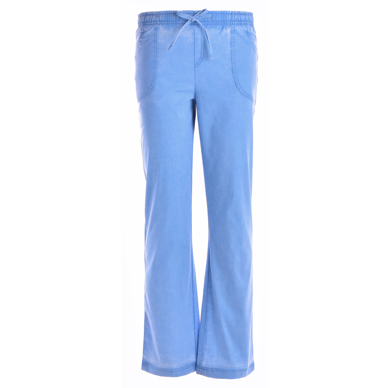 463795940dd Jeanish Washed Women Mock Wrap Neck Stretch Scrubs Set JS1608
