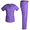 Jeanish Washed V Neck Stretch Women Scrubs Set - Multiple Pockets Scrub Sets Women Medical Uniforms Nursing Scrubs Softness JS1609